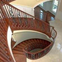 Decoratively crafted stairway