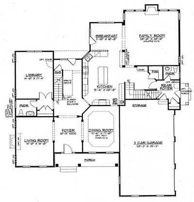 Chadwick first floor plan monument homes for Chadwick house plan